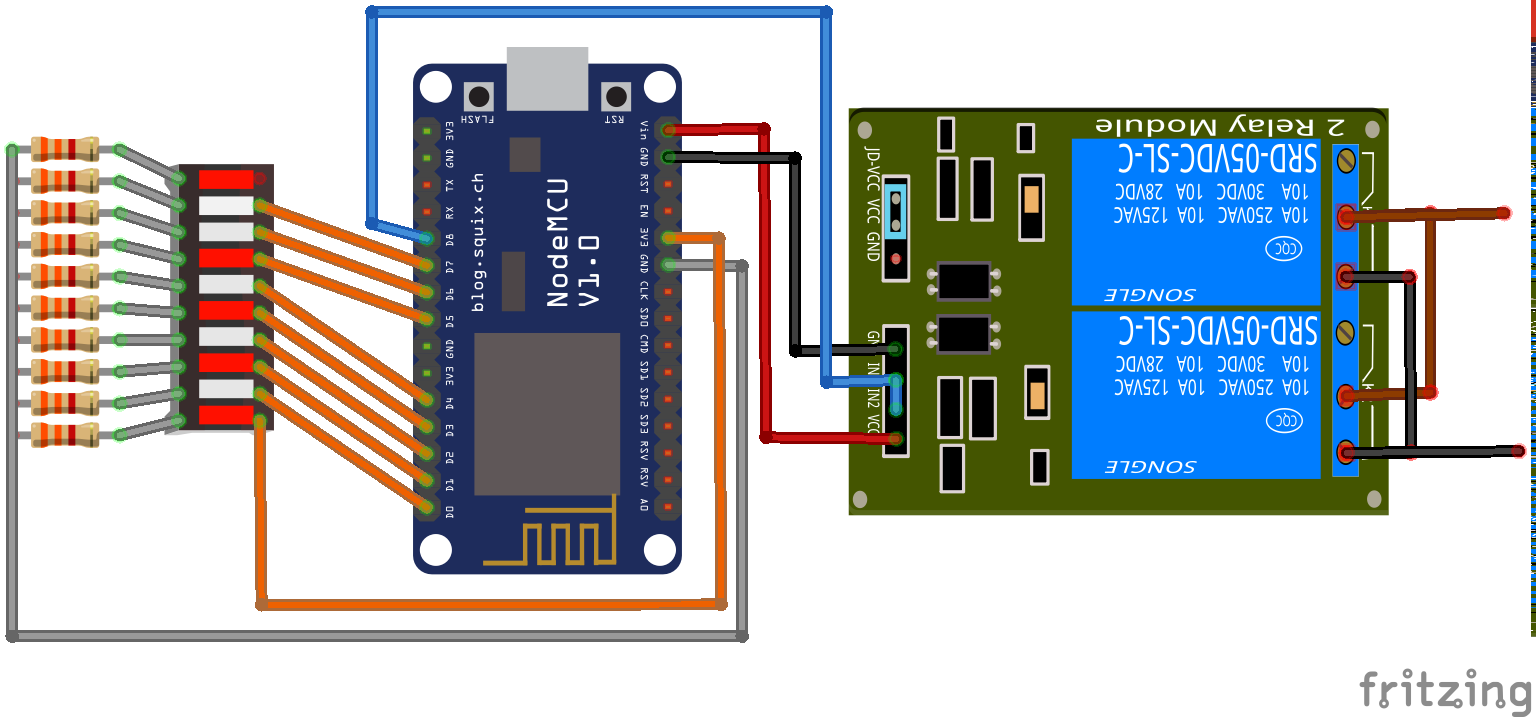 Led bargraph display and remote relay control using esp8266 relay module diagram sciox Choice Image