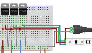 5050 RGB LED Strip interfacing to raspberry PI