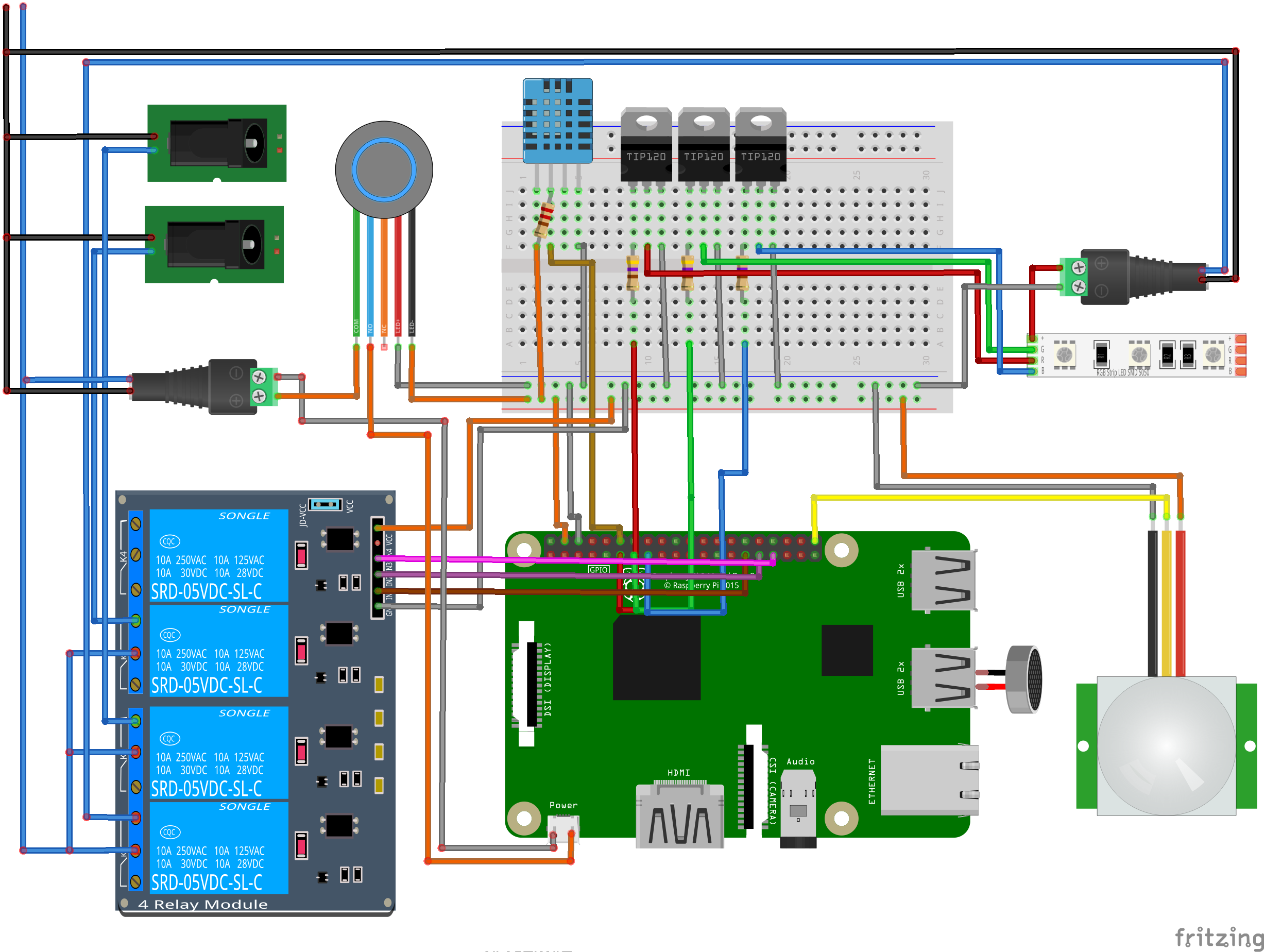Magic Mirror module full circuit diagram